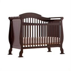 Pemberly Row 4-in-1 Fixed Side Convertible Crib in Espresso