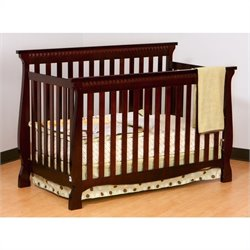 Pemberly Row 4-in-1 Fixed Side Convertible Crib in Cherry