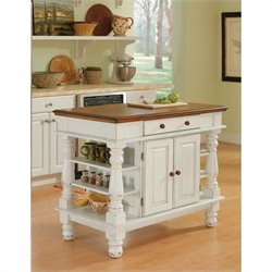 Pemberly Row Kitchen Island in White