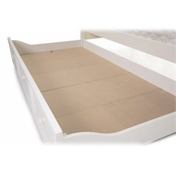 Pemberly Row Under Bed Pull Out Trundle in White Finish