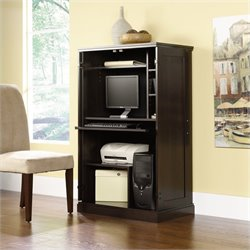 Pemberly Row Cinnamon Cherry Computer Armoire