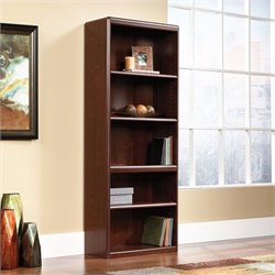 Pemberly Row Library Bookcase in Classic Cherry
