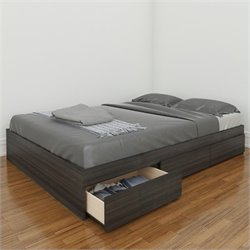 Pemberly Row 54 Reversible Storage Bed in Ebony