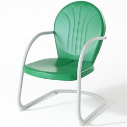 Pemberly Row Metal Chair in Grasshopper Green