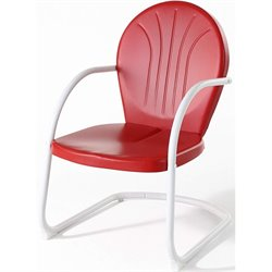 Pemberly Row Metal Chair in Red