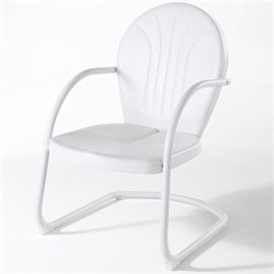 Pemberly Row Metal Chair in White