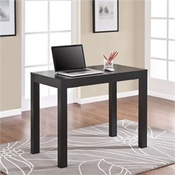 Pemberly Row Home Office Desk with Drawer in Black Oak