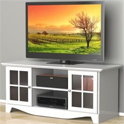 Pemberly Row 56'' HEC TV Stand in White