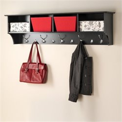 Pemberly Row Wall Hanging Coat Rack in Black