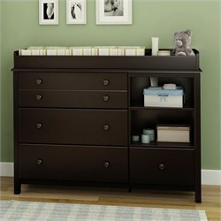 Pemberly Row Changing Table in Espresso