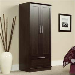 Pemberly Row Wardrobe Armoire in Dakota Oak Finish