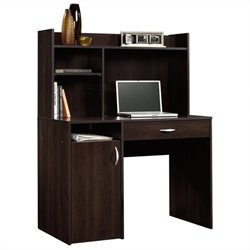 Pemberly Row Desk with Hutch in Cinnamon Cherry