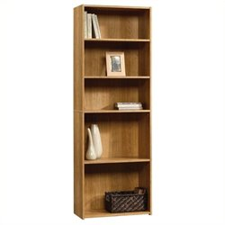 Pemberly Row 5-Shelf Bookcase in Highland Oak