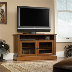 Pemberly Row Panel TV Stand in Washington Cherry