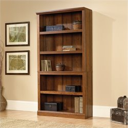 Pemberly Row 5 Shelf Bookcase in Washington Cherry Finish