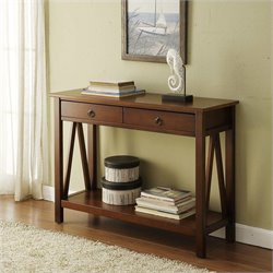 Pemberly Row Console Table in Antique Tobacco