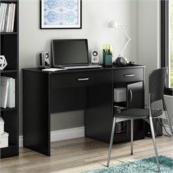 Pemberly Row Small Computer Desk in Pure Black