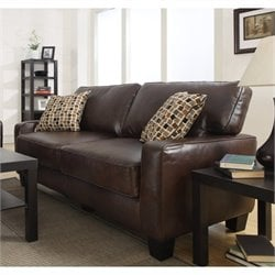 Pemberly Row Sofa in Chestnut Brown
