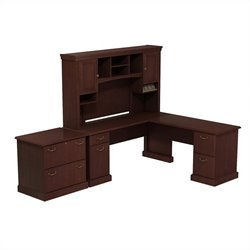 Pemberly Row 72W X 72D L-Desk with Hutch and Lateral File