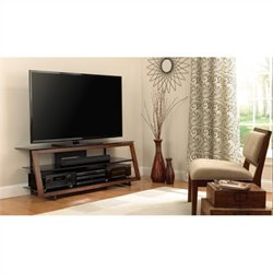 Pemberly Row TV Stand in Medium Espresso Finish