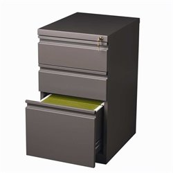 Pemberly Row 3 Drawer Mobile File Cabinet in Med Tone