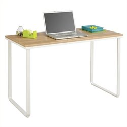 Pemberly Row Steel Workstation in Beech and White