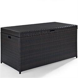Pemberly Row Outdoor Wicker Storage Bin