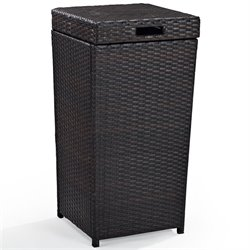 Pemberly Row Outdoor Wicker Trash Bin