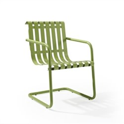 Pemberly Row Retro Spring Chair in Oasis Green