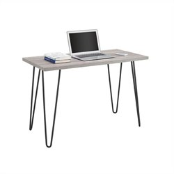 Pemberly Row Home Office Desk in Sonoma Oak and Gunmetal Gray
