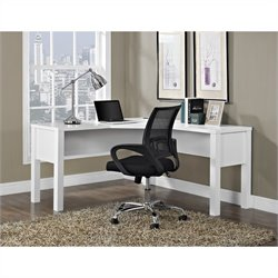 Pemberly Row L Desk for Home Office in White
