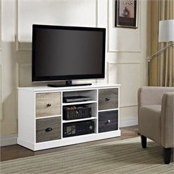 Pemberly Row TV Stand in White