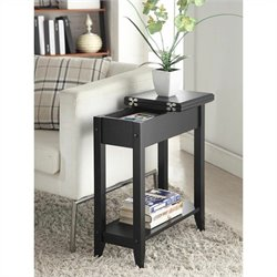 Pemberly Row Flip Top End Table - Black