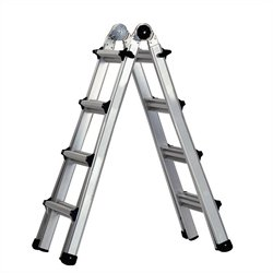 Pemberly Row Multi Position Aluminum Ladder