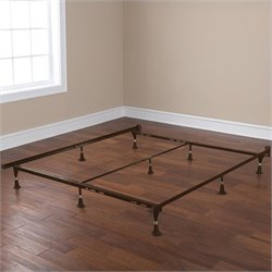 Pemberly Row Universal Adjustable Metal Bed Frame
