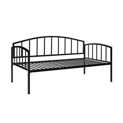 Pemberly Row Metal Twin Daybed in Black