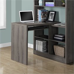 Pemberly Row Corner Desk in Dark Taupe