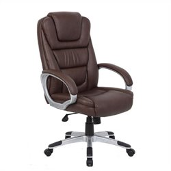 Pemberly Row Executive Office Chair in Bomber Brown