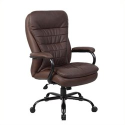Pemberly Row Heavy Duty Office Chair in Bomber Brown
