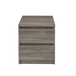 Pemberly Row 2 Drawer Nightstand in Truffle