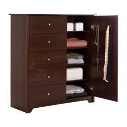 Pemberly Row 5 Drawer Chest in Sumptuous Cherry