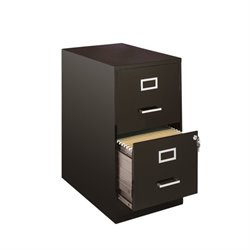 Pemberly Row 2 Drawer File Cabinet in Black