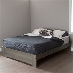 Pemberly Row Queen Platform Bed in Gray Maple