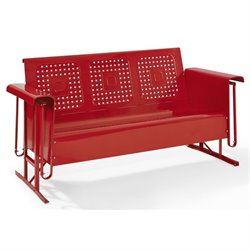 Pemberly Row Sofa Glider in Red