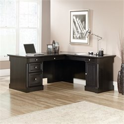 Pemberly Row L Shaped Desk in Wind Oak