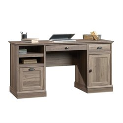Pemberly Row Executive Desk in Salt Oak