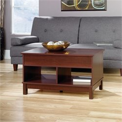 Pemberly Row Lift Top Coffee Table in Select Cherry