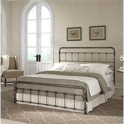 Pemberly Row Metal Bed in Weathered Nickel