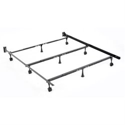 Pemberly Row Universal Folding Bed Frame in Black