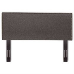 Pemberly Row Upholstered Headboard in Gray